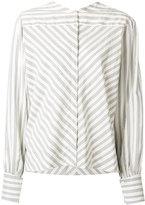 Isabel Marant collarless poplin shirt - women - Silk/Cotton/Cupro - 38