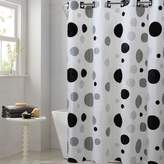 EZ-On by Hookless Retro Dots Peva Shower Curtain