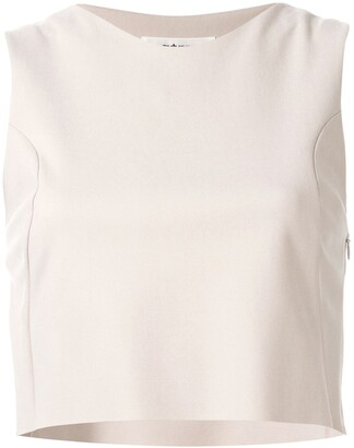 Sulvam Sleeveless Tailored Top