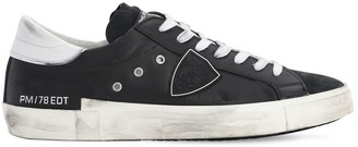 Philippe Model Prsx Veau Gomme Leather Sneakers