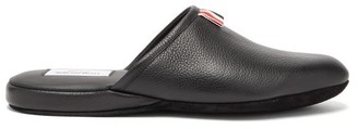 Thom Browne Backless Leather Slippers - Mens - Black