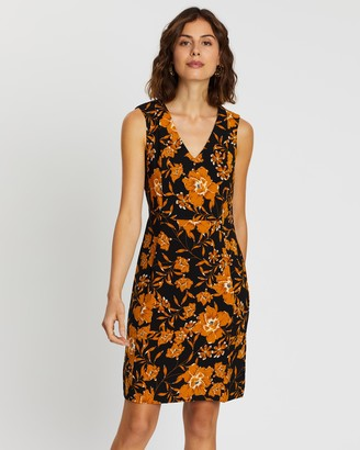 Forcast Reina Floral Sleeveless Dress