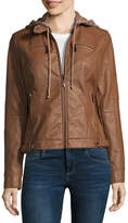 Joujou Jou Jou Faux Leather Hooded Moto Jacket-Juniors