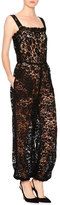 Dolce & Gabbana Sleeveless Square-Neck Lace Jumpsuit, Black