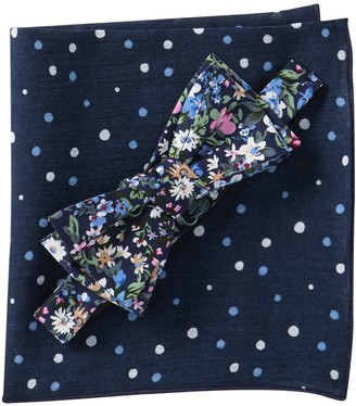 Original Penguin Stockle Floral Bow Tie & Pocket Square Set
