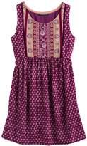 My Michelle Girls 7-16 Printed Tie-Back Dress
