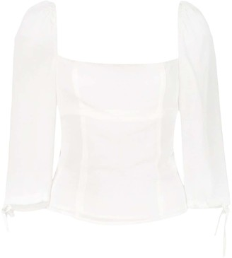 Reformation Grove square neck top