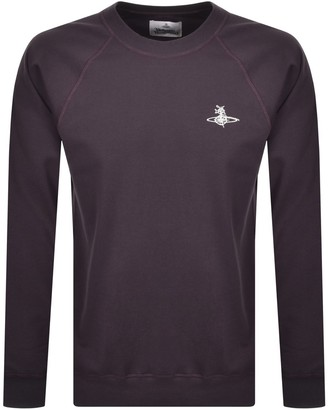 Vivienne Westwood Raglan Crew Sweatshirt Purple