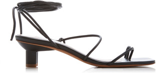 LOQ Women's Roma Leather Sandals - Ivory/black - Moda Operandi