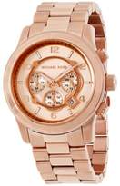 Michael Kors Runway MK8096 Rose Gold Dial Stainless Steel 45mm Mens Watch