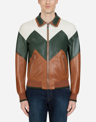 Dolce & Gabbana Multicolored Leather Jacket