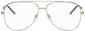 Gucci Gold and Black Aviator Glasses
