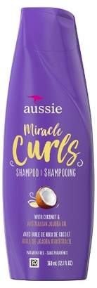 Aussie Paraben-Free Miracle Curls Shampoo with Coconut & Jojoba Oil For Curly Hair - 12.1 fl oz