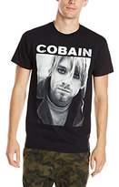 FEA Men's Kurt Cobain Black and White Photo T-Shirt