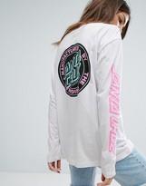 Santa Cruz Long Sleeve Skate T-Shirt With Back Logo And Sleeve Print