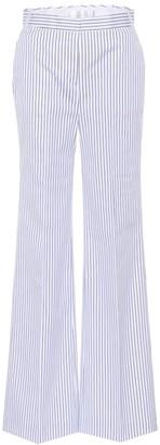 Victoria Victoria Beckham Striped cotton wide-leg trousers