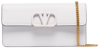 Valentino V Sling logo-embellished leather shoulder bag