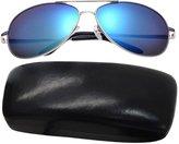 Aubig Men Premium Full Mirrored Aviator Sunglasses Flash Mirror Lens with Case + Bag