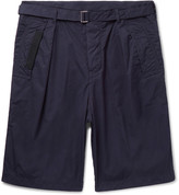 Sacai - Canvas-trimmed Cotton Shorts