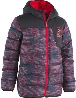 Under Armour Boys' Pre-School UA Printed Swarmdown Hooded Jacket
