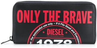 Diesel 'Only The Brave' logo wallet