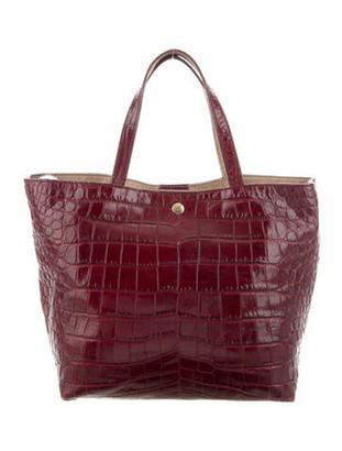 Elizabeth and James Eloise Crocodile-Embossed Tote Bag Gold