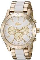 Lacoste Women's 'CHARLOTTE' Quartz Stainless Steel Casual Watch, Color:Gold-Toned (Model: 2000963)