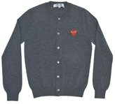Comme des Garcons Cardigan With Small Red Emblem