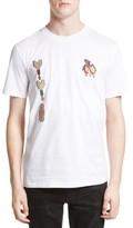 Lanvin Men's Tattoo Embroidered Applique T-Shirt