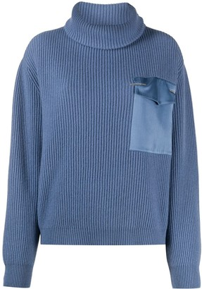 Brunello Cucinelli Ribbed Knit Roll-Neck Jumper