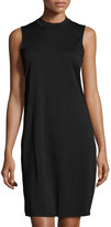 Neiman Marcus Sleeveless Mock-Neck Dress Top, Black