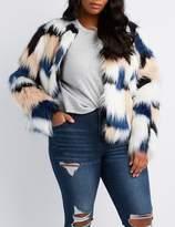 Charlotte Russe Plus Size Faux Fur Cropped Jacket