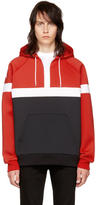 Givenchy Red Neoprene Stars Hoodie