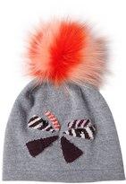 Fendi Wool Hat W/ Fox Fur Pompom