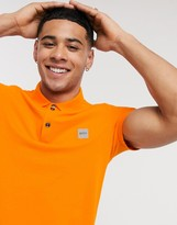 BOSS Passenger slim fit logo polo in orange