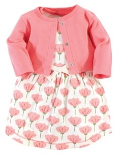 Touched by Nature Organic Cotton Dress and Cardigan Set, Tulip, 3-6 Months