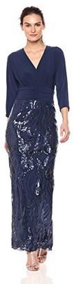 Le Bos Women's 1 PC Long Jersey Sequin Dress