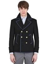 Thom Browne Felted Wool Pea Coat