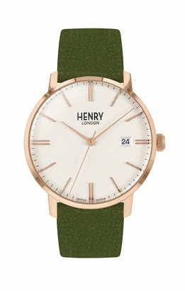 Henry London Unisex Adult Analogue Classic Quartz Watch with Leather Strap HL40-S-0362