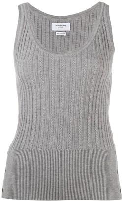 Thom Browne Scoop Neck Knitted Vest