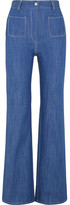 Paul & Joe Erania High-rise Straight-leg Jeans - Mid denim