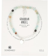 Dogeared Gem Bracelet, Guardian Angel, Angel Wing Charm, Amazonite Bead Bracelet