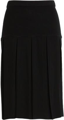 Ming Wang Box Pleat Skirt