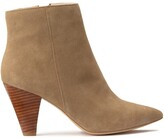 La Redoute Collections Suede High Heeled Boots with Pointed Toe
