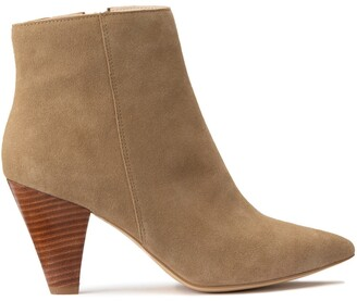 Suede High Heeled Boots with Pointed Toe
