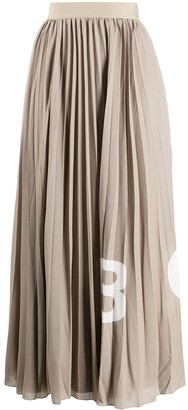 HUGO BOSS Pleated Midi Skirt