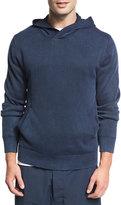 Vince Garment-Dyed Cotton Hoodie, Coastal Navy Blue