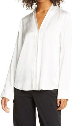 RtA Denim Natalya V-Neck Silk Shirt