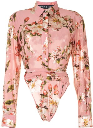 Y/Project Long-Sleeved Floral Print Shirt
