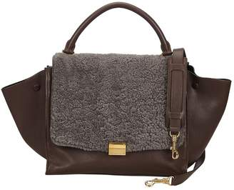 Celine Trapeze Brown Leather Bags